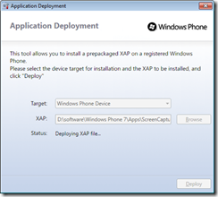 WP7_Application Development Deploy