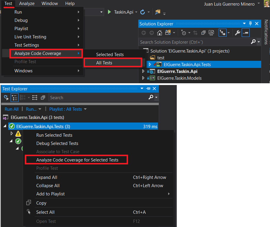 Runing Tests and Code Coverage without Visual Studio