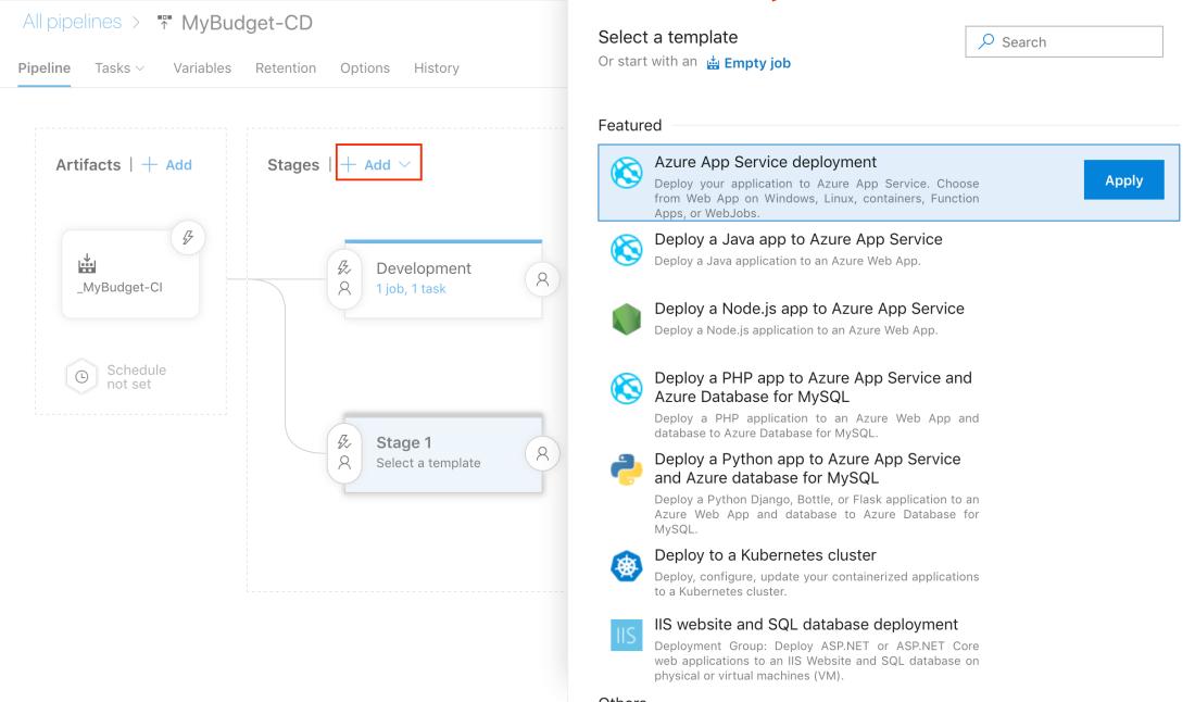 From GitHub to Azure App Service through Azure DevOps pipelines